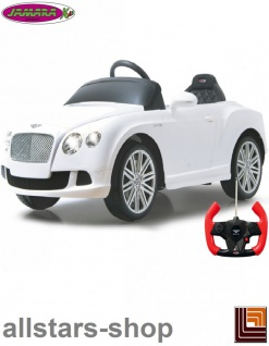 Jamara Kinderauto Elektroauto Ride On Car Bentley Continental GT Speed Convertible weiß