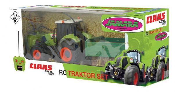 Jamara Claas RC Axion 850 Traktor 1:28 mit Anhänger Landmaschine grün RC-Auto - Vorschau 5