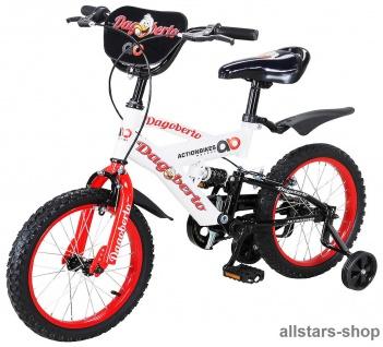 Actionbikes Kinderfahrrad Kinder-Fahrrad - Dagoberto - 12 Zoll rot-weiß Bike Stützräder Mädchen Jungen Kindergarten