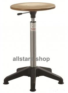 """Allstars Hocker """"Octopus Basis"""" 31 - 38 cm Drehstuhl mit Gleiter und Holzsitz"""