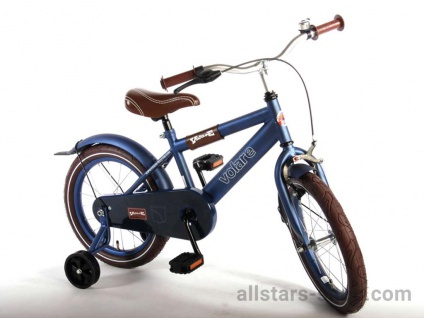 "Allstars Dino Bikes Wheels ""Urban City"" Kinderfahrrad 16 Zoll - matt-blau"