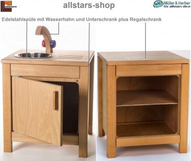 Allstars Kinderküche Puppen-V2A-Spüle und Regal-Unterschrank H = 45, 5 cm