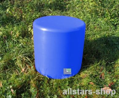 Beckmann Sitzelement Hocker rund Sitzgelegenheit Design-Zylinder Ø = 45 cm blau H = 45 cm mit Bodenanker