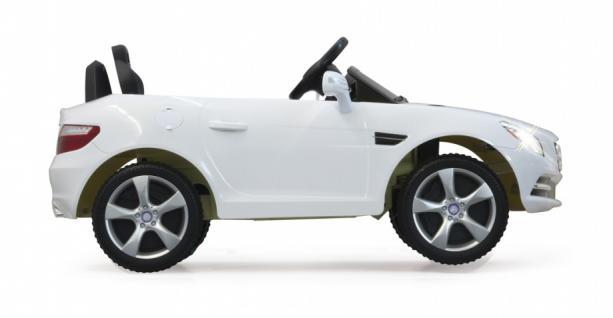 Elektro-Kinderauto Mercedes SLK Class 10 weiß mit RC-Fernbedienung - Vorschau 3