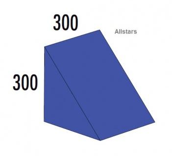 Bänfer Softbaustein Dreieck Blau 300 x 300 x 300 mm Maxi Schaumstoff-Baustein