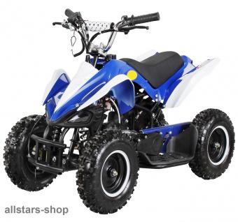 Actionbikes Poketquad Miniquad Racer 49 cc Motor-2-takt-Quad blau-weiß Miweba