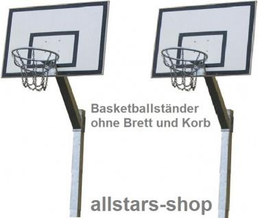 Beckmann Basketballanlage mit Ständer 3, 20 m verstellbar, Basketballkorb Netz verzinkt mit rechteckigem Zielbrett 1, 20 x 0, 90 m