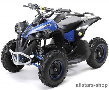 Actionbikes Kinderauto Elektro-Quad Reneblade 1000 W Pocketquad schwarz-blau Miweba