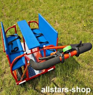 Allstars Krippenwagen Mehrkindwagen Bison IV Ausflugswagen für 6 Kinder mit Fußsack 2-er-Set