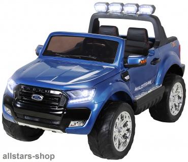 Actionbikes Kinderauto Ford Ranger Kinder-E-Auto 2-Sitzer blau Miweba
