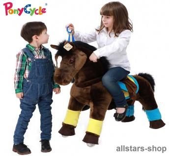 "Actionbikes Ponycycle ""Fury"" Premium Pony Maxi Schaukelpferd auf Rollen"