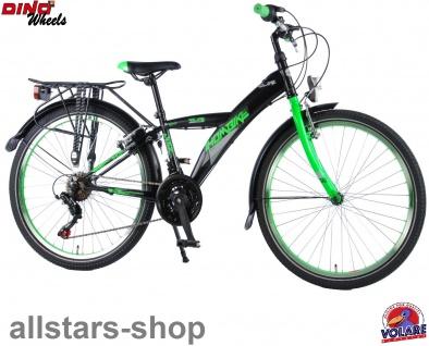 """Allstars Dino Wheels Bikes Kinderfahrrad Jungenfahrrad 24 """" + 21-Gang-Schaltung schwarz-grün"""