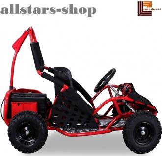 Actionbikes Kinderauto Buggy Go-Kart Miniquad Racer Batterie angetrieben 1000 Watt Quad schwarz-rot Miweba