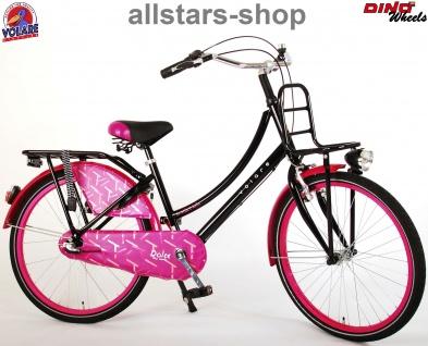"""Allstars Dino Bikes Wheels Kinderfahrrad Mädchenfahrrad 24 """" mit 3-Gang-Schaltung + Rücktritt lila"""