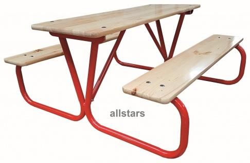 Allstars Kinderpicknick Garnitur Kindersitzgruppe Sitzgruppe 2 Bänke 1 Tisch Kindergarten KITA