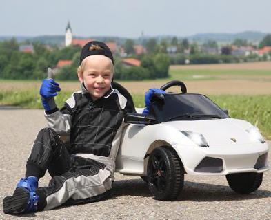 Jamara Ride on Car Lamborghini Aventador weiss Kinderauto mit E-Motor zum Selbstfahren Elektroauto mit RC-Fernbedienung - Vorschau 5
