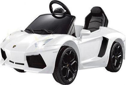 Elektro-Kinderauro Lamborghini Murcielago weiß mit RC-Fernbedienung