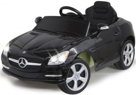 Jamara Mercedes SLK Class 10 schwarz Kinderauto Kinderfahrzeug mit E-Motor zum Selbstfahren Ride on Car Elektroauto mit RC-Fernbedienung