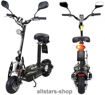 Actionbikes Elektroroller eFlux Street 20 mit Straßenzulassung E-Roller 20 km/h mit Sattel schwarz