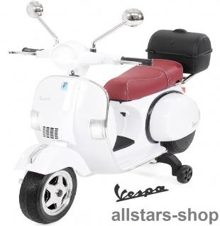 Actionbikes Kinder-Motorroller Vespa PX150 lizenziert Elektro-Roller E-Scooter weiß
