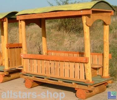 Spielplatzeisenbahn Spielzug - Waggon Doc - Holz-Waggon Hänger ohne Lok für öffentlichen Spielplatz