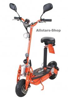 Actionbikes Elektroroller eFlux Street 20 mit Straßenzulassung E-Roller 20 km/h mit Sattel orange