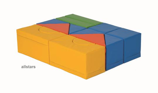 Bänfer Bausteinsatz 14-tlg. Softbausteine MINI Bausteine Großbausteine Schaumstoff - Vorschau 4