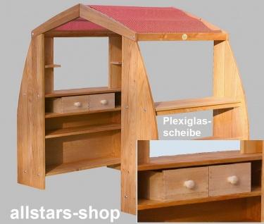 Schöllner Holzspielzeug Kaufhaus De Luxe Kaufladen mit Dach und 4 Schubladen