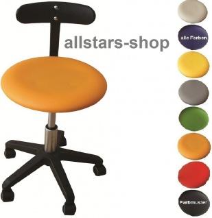 """Allstars Bürostuhl """"Octopus Beta"""" 42-55 cm Drehstuhl mit Rollen und PU-Beckenstütze orange"""