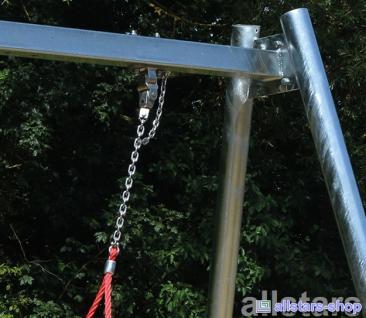 Ullmann Schaukelgestell Stahl + Vogelnestschaukel Nestschaukel Mammut 145 cm - Vorschau 3