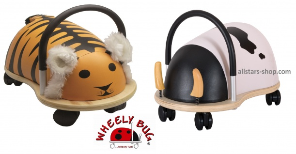 Wheely Bug Rutscher Kuh und Tiger groß Kleinkindrutscher mit 360 Grad Wendekreis Allstars