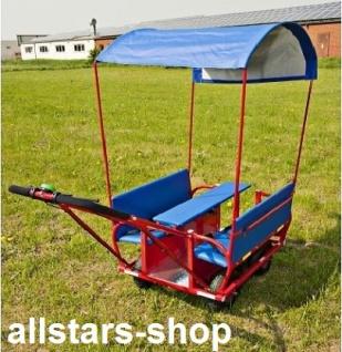 Allstars Krippenwagen Mehrkindwagen Bison IV Ausflugswagen mit Sonnendach für 6 Kinder