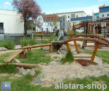 Wasserspielanlage - Mogli - nur Brücke - Spielplatzbrücke Wasserbrücke Holzbrücke