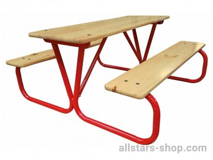 Kinderpicknick Garnitur Sitzgruppe 2 Bänke 1 Tisch Douglasie Allstars
