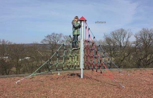 Huck X-Pyramide Midi Kletterpyramide Netzpyramide Spielturm klettern