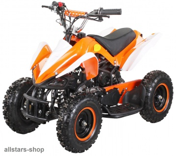 Actionbikes Kinderauto Poketquad Miniquad Racer 49 cc Motor-2-takt-Quad orange-weiß