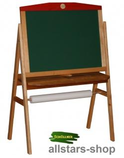 Schöllner Tafel Kindertafel mit Papierrolle Standtafel magnethaftend für Kindergarten