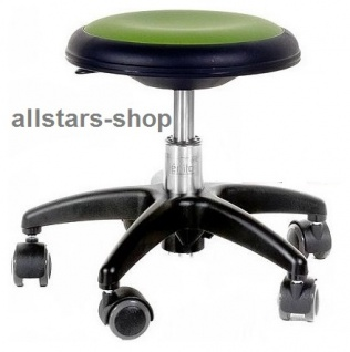 Allstars Rollhocker Star grün Drehstuhl für Kinder ohne Lehne small