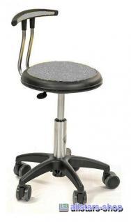 Allstars Stuhl Kinderstuhl Rollhocker Drehstuhl mit Lehne grau Rollstuhl Hocker