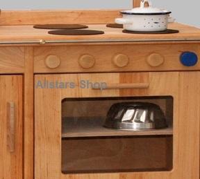 Schöllner Ofen Backofen für Kinderküche Spielküche Star Maxi aus Holz mit Herdplatten und Seitenteilen H = 50 cm - Vorschau 5
