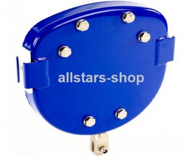 Beckmann Seilbahn Laufkatze mit Bremse Edelstahl V2A blau rund für komplette Draht-Seilbahn