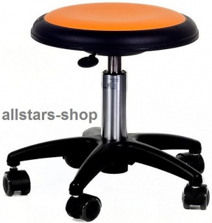 Allstars Rollhocker Star orange Drehstuhl für Kinder ohne Lehne Medium