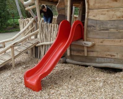 Beckmann GFK-Rutsche 3, 25 m Anbaurutsche Mickey Medium PH = 1, 50 m rot