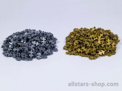 Allstars Plus-Plus Puzzle Mini Gold/Silber 2000 Bausteine Bauklötze