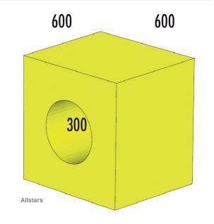 Bänfer Softbaustein Röhre 1-tlg. Gelb 60 x 60 x 60 Maxi Schaumstoff-Baustein