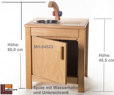 Allstars Kinderspielküche 1 Spüle mit Wasserhahn H = 45, 5 cm Spielküche aus Buchenholz
