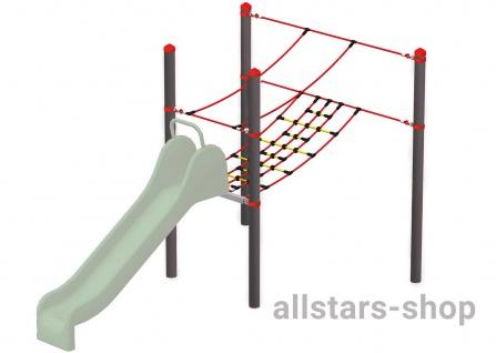 HUCK Vario-Element 11 Kletterbrücke für Robinie-Pfosten ohne Rutsche öffentlicher Spielplatz