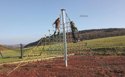 Huck X-Pyramide Maxi Kletterpyramide Netzpyramide Spielturm klettern