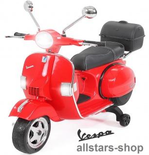 Actionbikes Kinder-Motorroller Vespa PX150 lizenziert Elektro-Roller E-Scooter rot