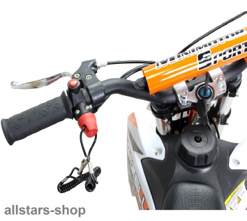Actionbikes Kindermotorrad Kinder-Crossbike Poketbike Gazelle 49 cc Benzin-Motor orange - Vorschau 4